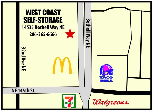 West Coast Self Storage Sheridan Beach Units And Prices | 14535 Bothell Way  Northeast In Shoreline, WA 98155